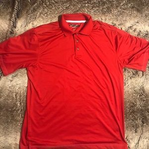Pebble Beach Performance Mens Golf Polo Red Large
